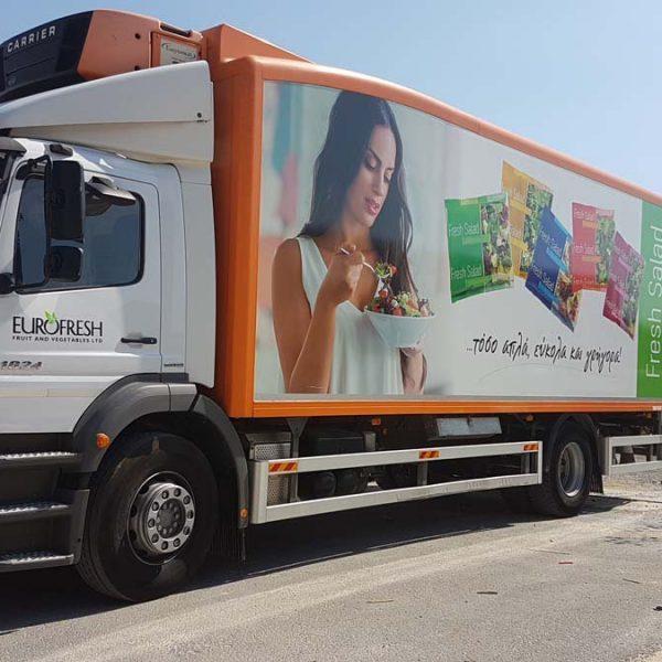 Advertising vehicle wraps