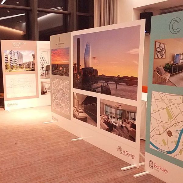 Exibition display panels