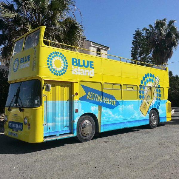 Full wrap promotional bus