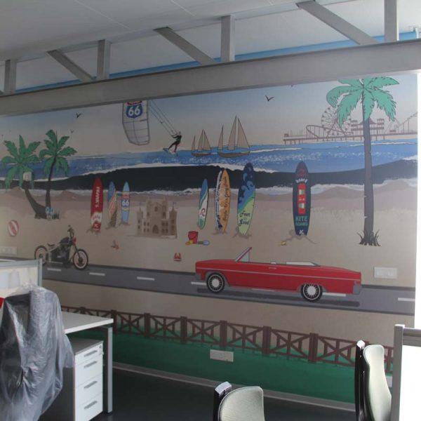 Indoor wallpaper decor