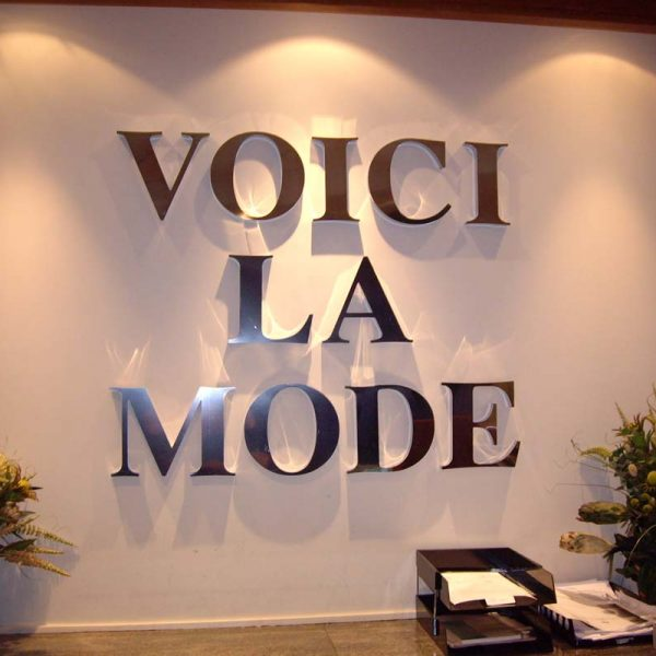 Reception 3D stainless steel letters