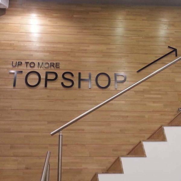 TOPSHOP acrylic laser cut letters